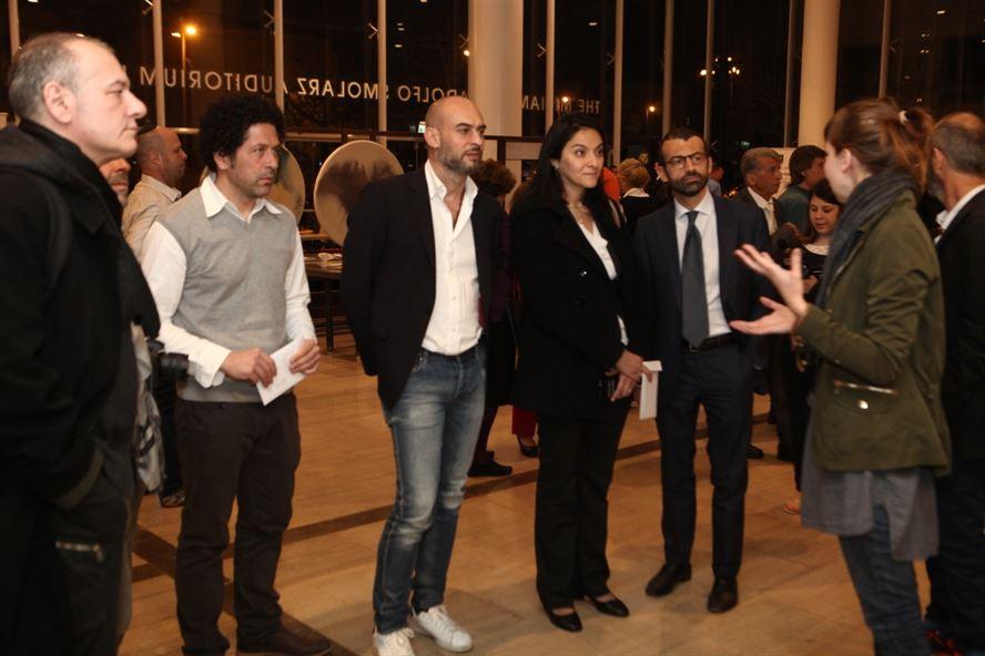 המשלחת האיטלקית בנטוורקינג עם המעצבים הישראלים