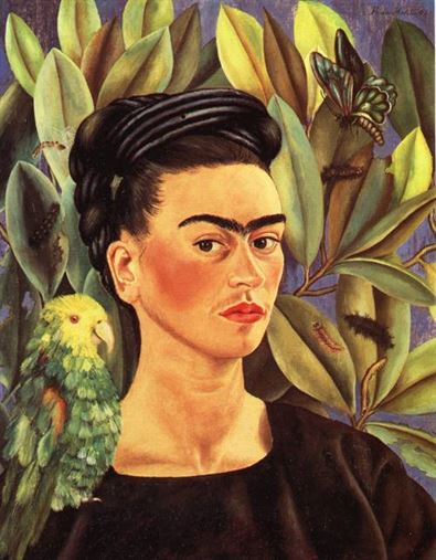 Self-Portrait-with-Bonito-1941-by-Frida-Kahlo