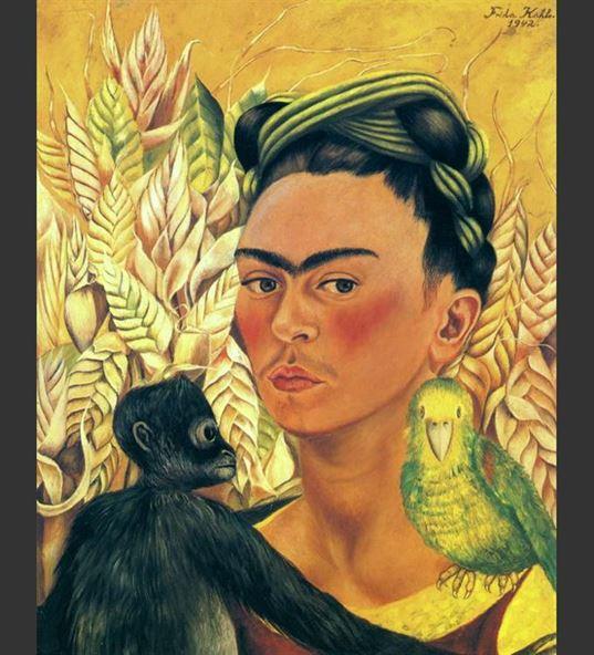 Self-Portrait-with-Parrot