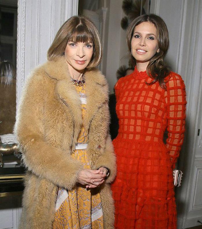 עם Anna Wintou עורכת מגזין האופנה Vogue