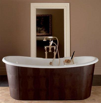 אמבטיה מצופה עור טבעי. מודי
