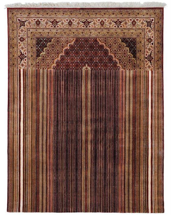 שטיח מזרחי קלאסי בעיבוד מודרני