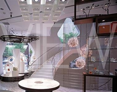 MIKIMOTO GINZA 2, GINZA, TOKYO, JAPAN, TOYO ITO & ASSOCIATES, ARCHITECTS + TAISEI DESIGN PAE, INTERIOR VIEWS AROUND CENTRAL STAIRWELL