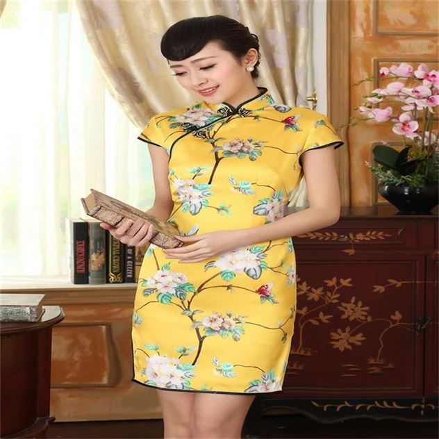QIpao-Summer-New-2015-100-Silk-Chinese-Womens-Mini-dress-font-b-Cheongsam-b-font-font