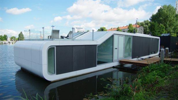 Watervilla דה Omval, אמסטרדם – בתים צפים אינם דבר חדש בהולנד