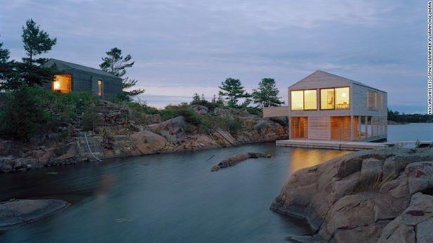 Floating House, אונטריו - חדר שינה אחד צף, נשען על סירות פלדה
