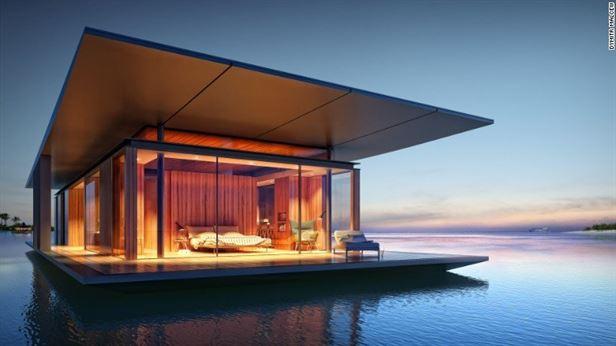 בית צף, עוצב על ידי האדריכל הסינגפורי Dymitr Malcew.כל בית הוא בר קיימא, בנוי עם מערכת טיהור מים משלו ופאנלים סולאריים לחשמל.