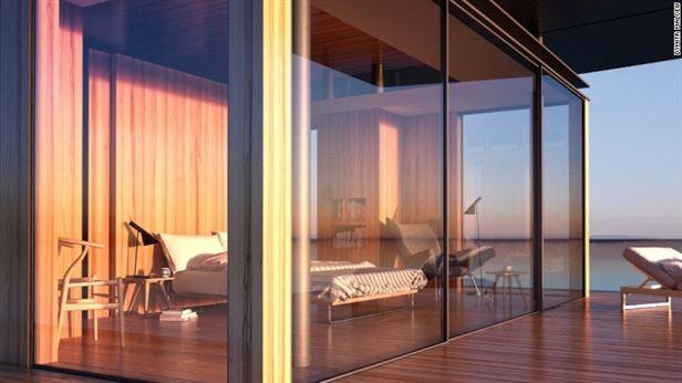כאשר בונים בית צף, אחד היעדים המרכזיים של האדריכל Dymitr Malcew, הוא להשתלב בסביבה. העיצוב בהשראת הטבע, מדגיש את הנוף, כולל קירות מסך מזכוכית מהרצפה עד התקרה, שפע של עץ. מכל חדרי המלון גישה נוחה אל מרפסת היקפית וחלונות ענק להכניס הרבה אור טבעי.