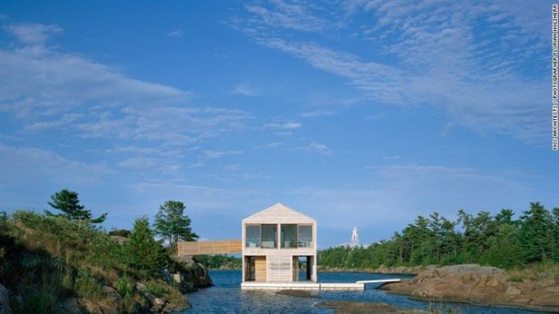 Floating House אגם יורון, אונטריו - בהשראת הסביבה