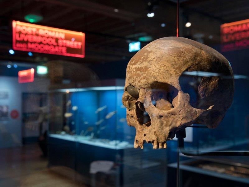 תערוכה של 8,000 שנות היסטוריה של לונדון, במוזיאון של העיר