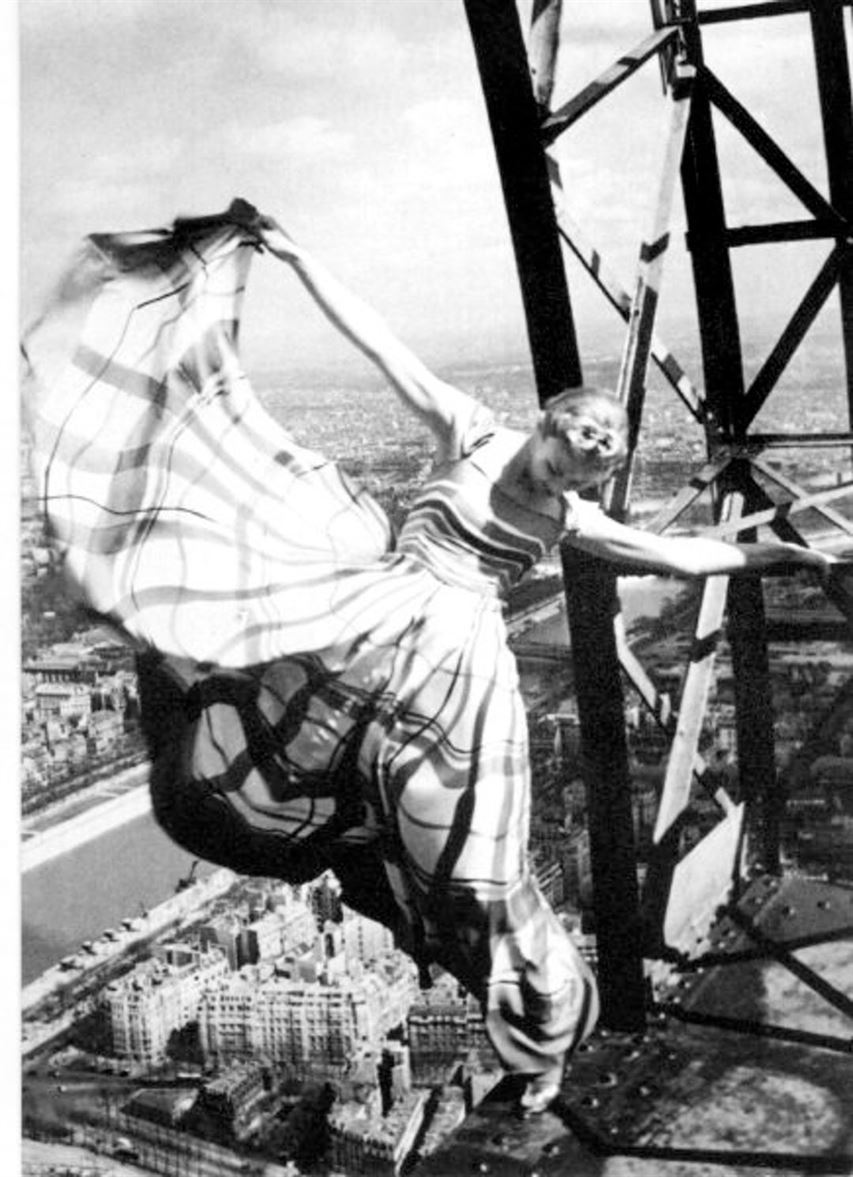 Eiffel Tower (1889) Paris Designed by Stephen Sauvestre Vogue, May 1939 Photo by Erwin Blumenfeld