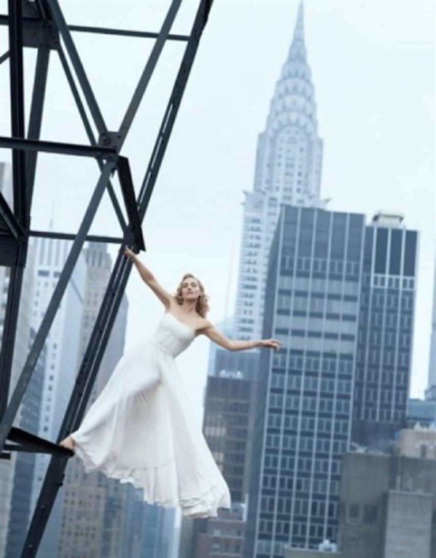 Chrysler Building (in background) (1930) New York City Designed by William Van Alen Harper's Bazaar, July 2009 Photo by Peter Lindbergh
