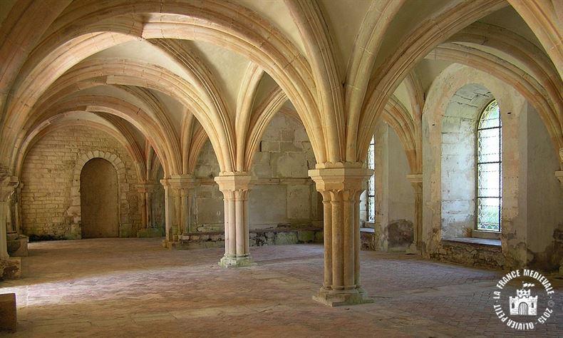 Abbaye de Fontenay-Salle capitulaire-005
