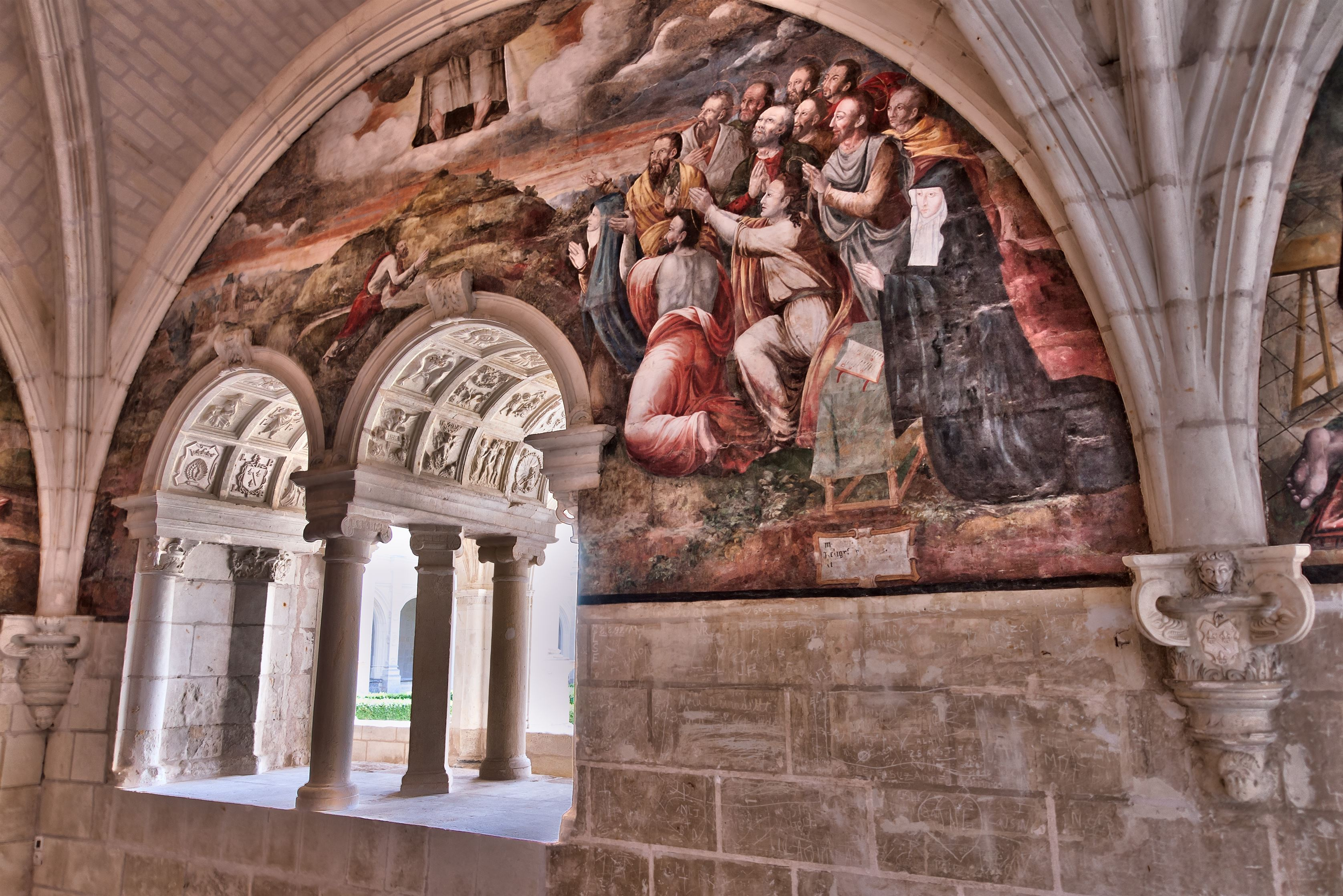 Abbaye_Fontevraud_-_Salle_capitulaire_-_L'ascension