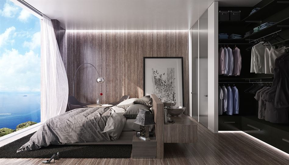 bedroom-with-luxury-wood-floors-and-walls