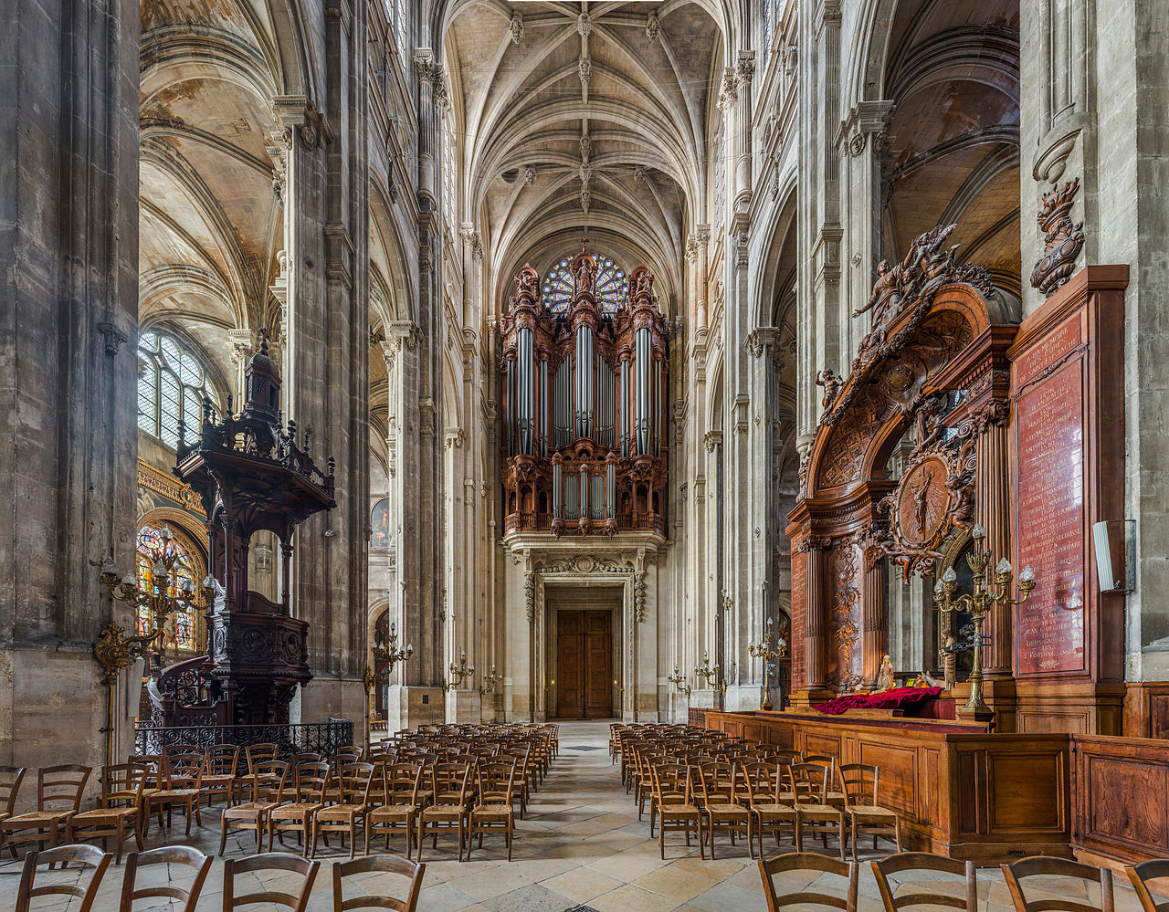 Church_of_St_Eustace_Organ_and_Pulpit,_Paris,_France_-_Diliff