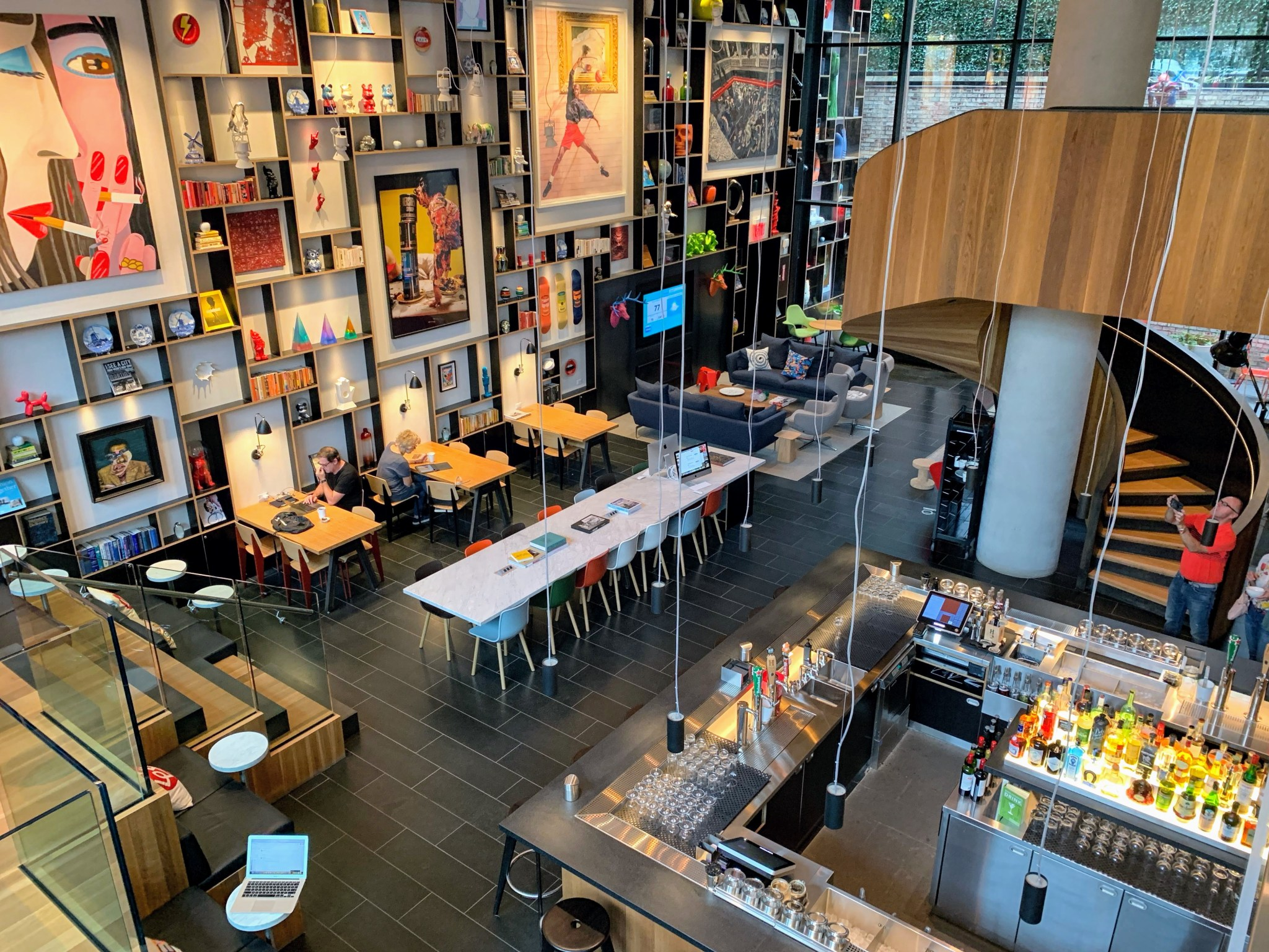 CitizenM-Bowery-New-York-Modular-Hotel-Living-Room-and-Bar-Area