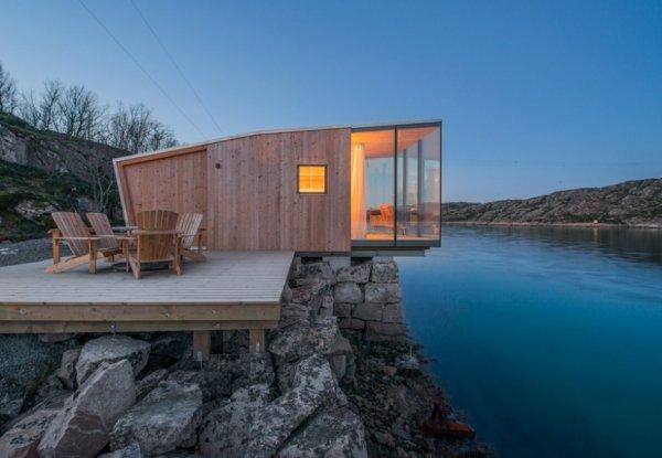 מתחם נופש באי קפוא בנורווגיה