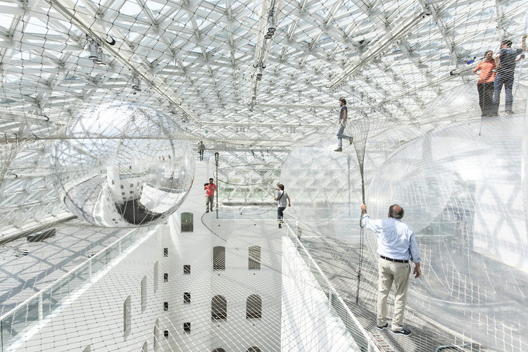Interactive-Art-Installation-People-Play-Art-Suspended-1A