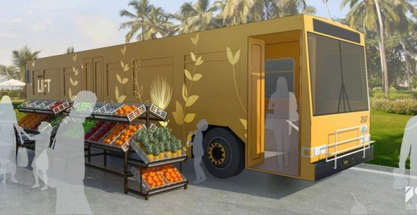 אדריכלים בהוואי הופכים אוטובוסים ישנים, לבתים לחסרי בית