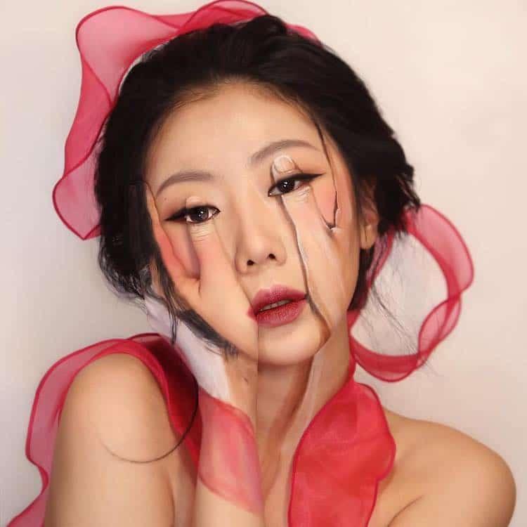זה לא פוטושופ – הפרצופים של Dain Yoon נעשו אך ורק באמצעות איפור