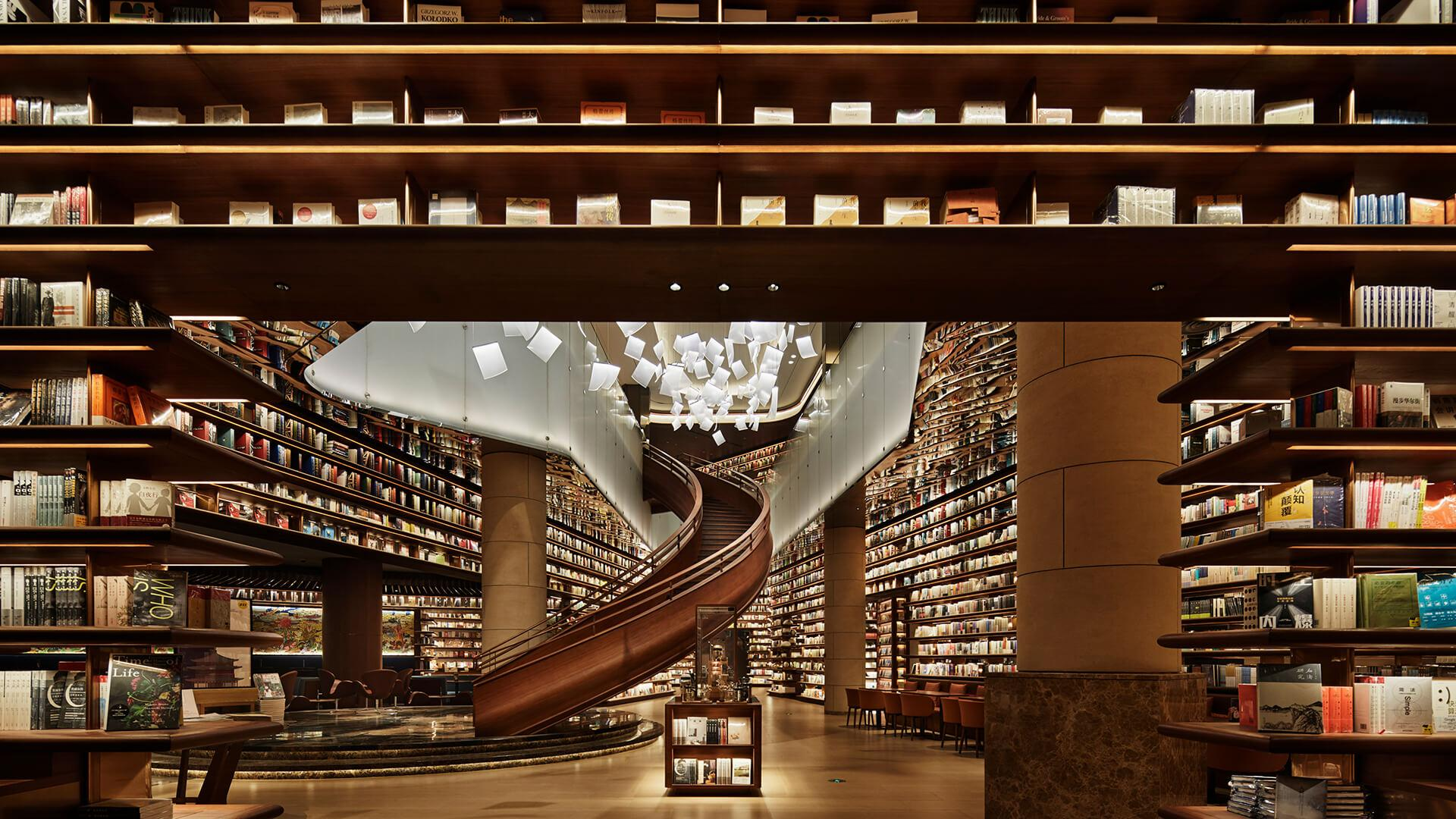 """חנות ספרים בסין, בשטח של 4,500 מ""""ר, היא חלל ציבורי גדול"""