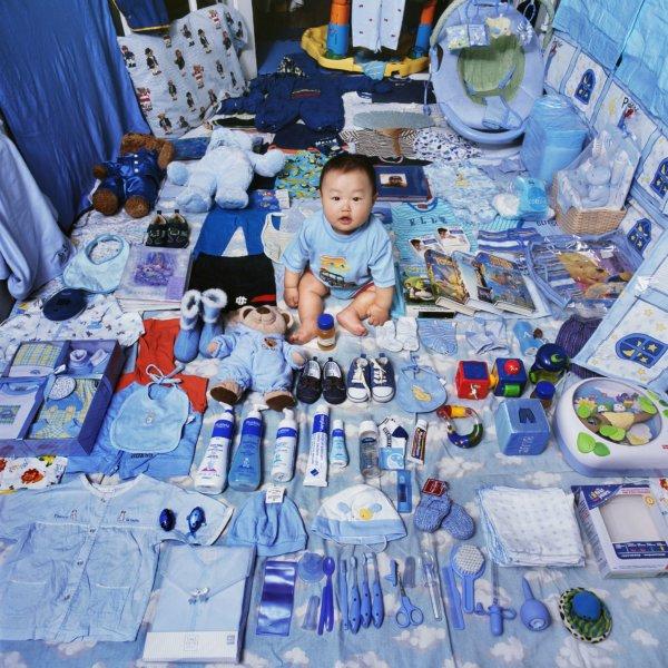 ורוד = בנות, כחול = בנים