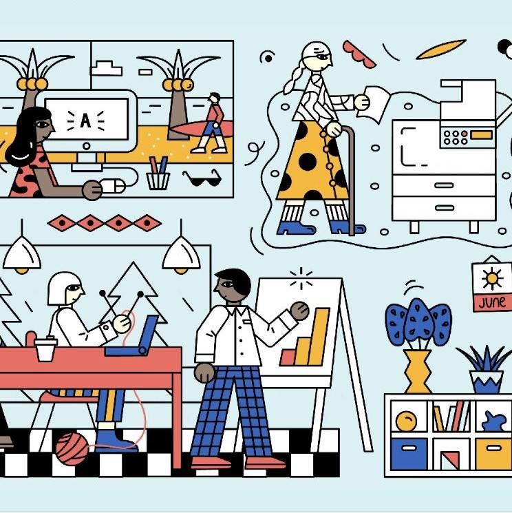 המהפך ההיברידי בתכנון ועיצוב סביבות העבודה