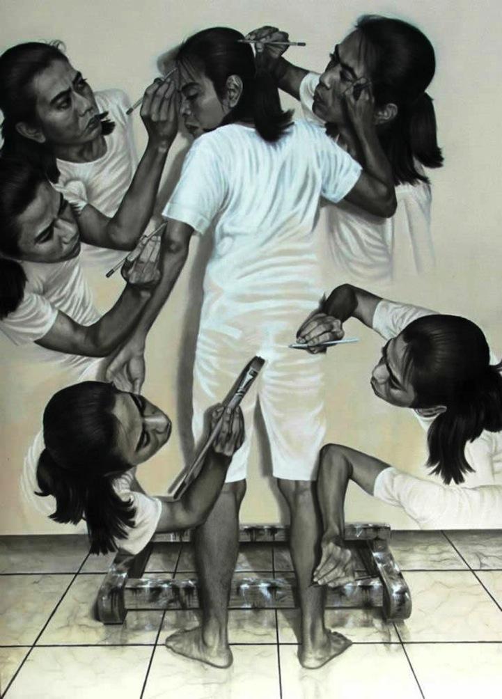 הצייר הנרקיסיסטי מאינדונזיה