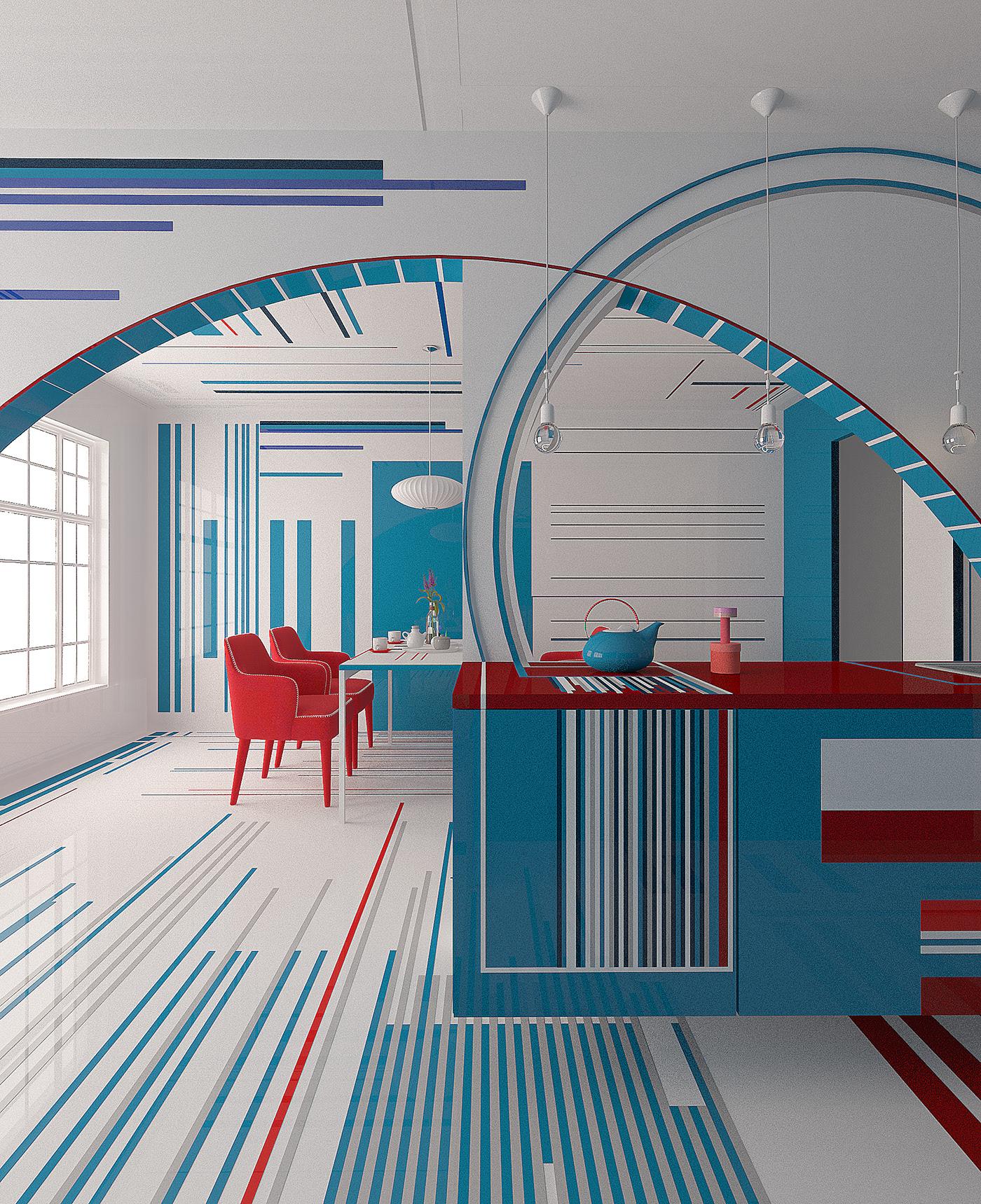 הצבעים והגאומטריה של סטודיו Brani & Desi