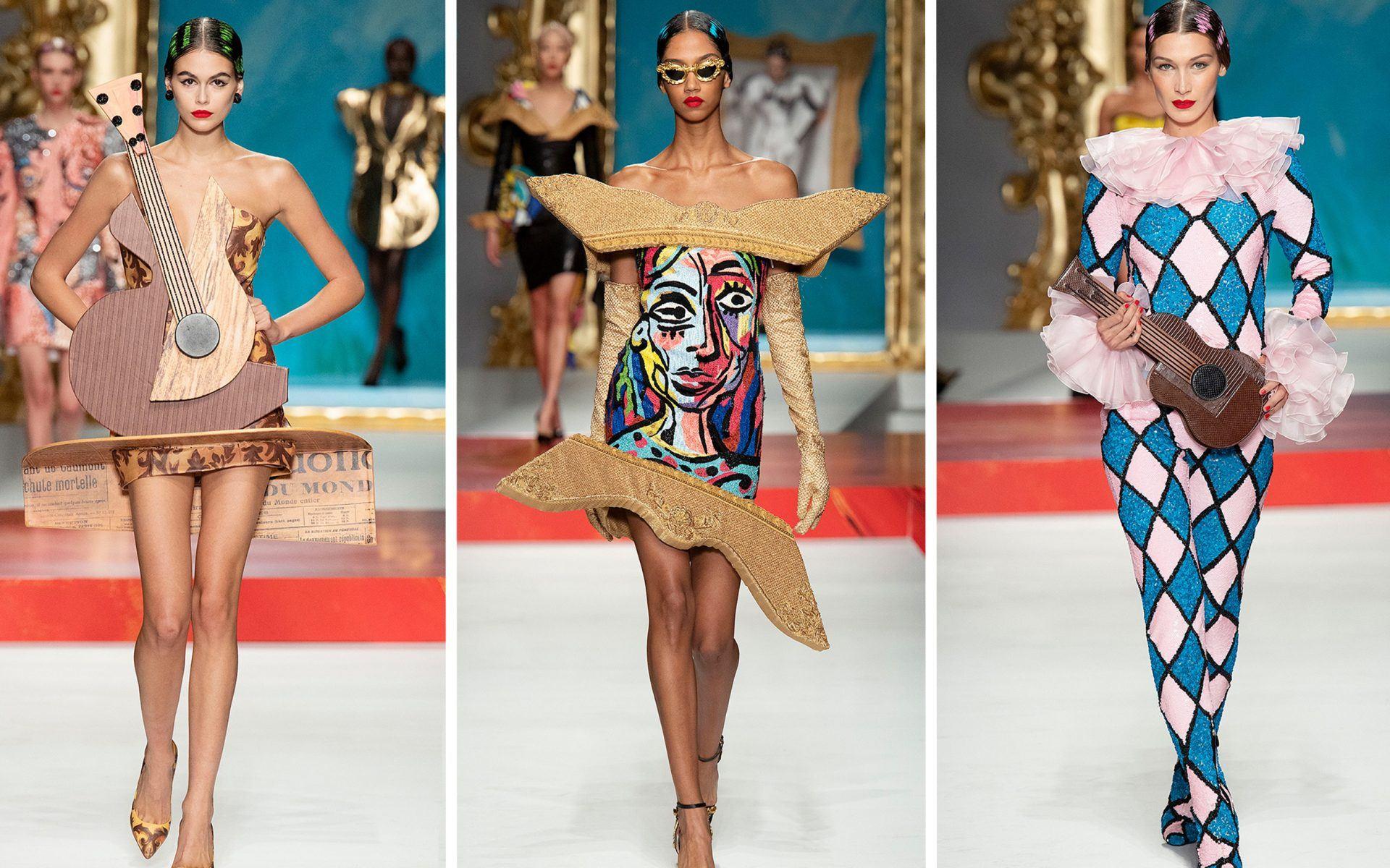 יצירות המופת של פיקאסו קיבלו חיים, בשבוע האופנה במילאנו
