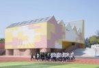 חצר משחקים מקורה בבית ספר תיכון במחוז יויאנג, סין