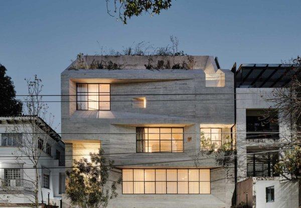 בטון מגולף בבניין דירות במקסיקו