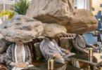 תערוכה מפתיעה של sun yuan & peng yu, בלובי של מלון ברומא
