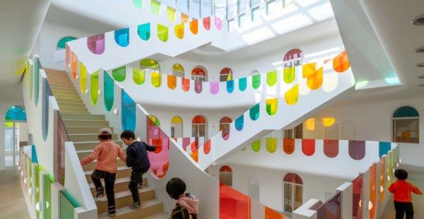 גני ילדים שהם מבנים אדריכליים לתפארת, בסין