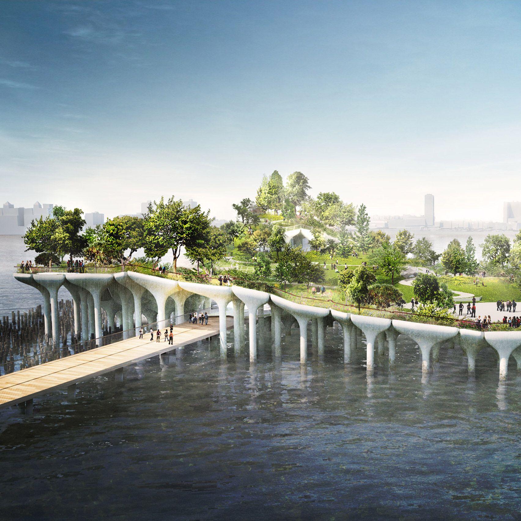 הושהתה בנייתו של pier 55, האי המלאכותי במנהטן