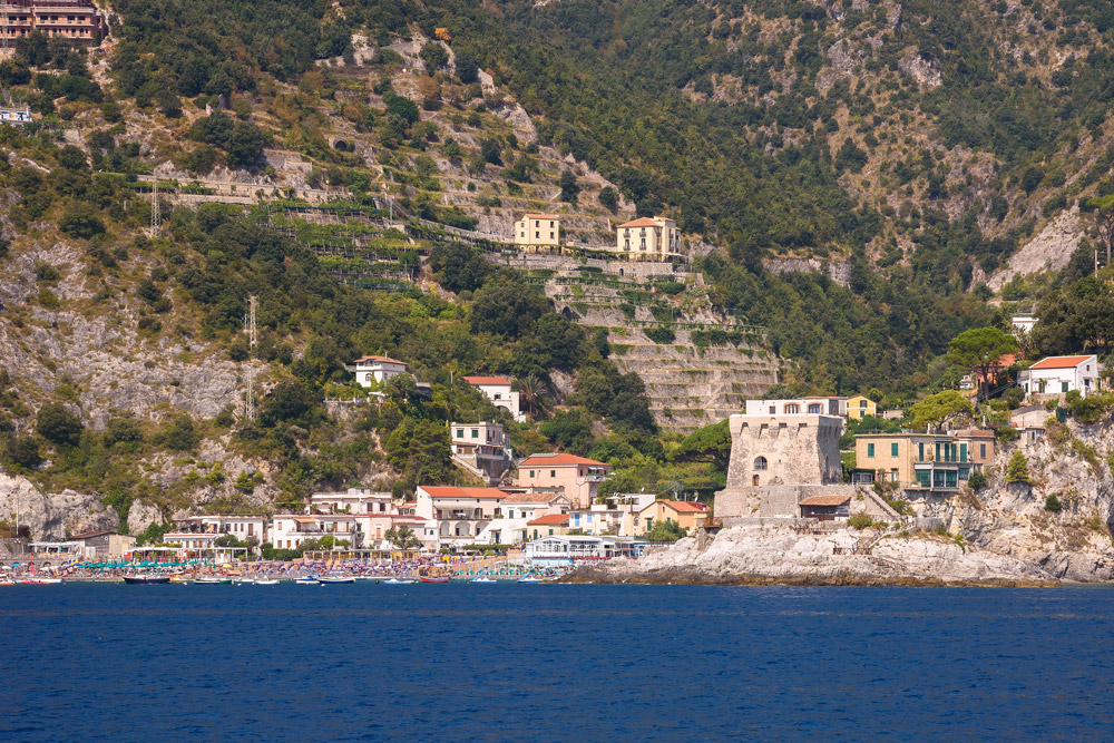 הכפרים שבחוף Amalfi באיטליה
