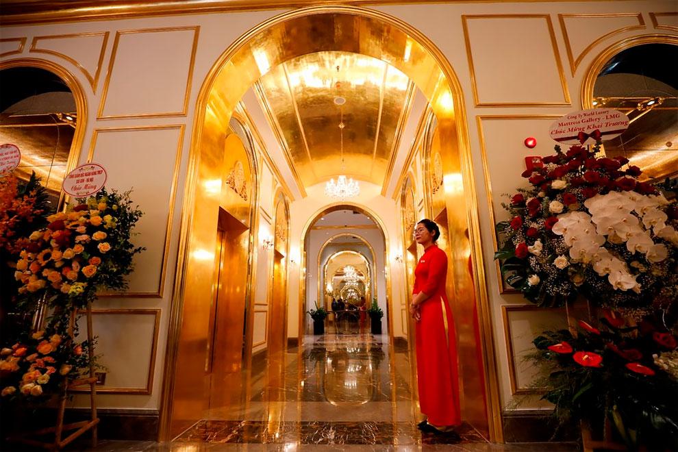 בית המלון המצופה בזהב הראשון בעולם נפתח בווייטנאם