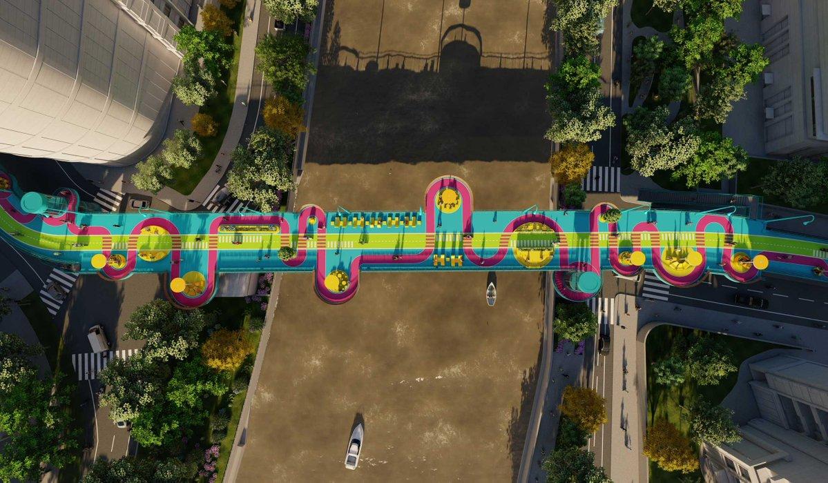גשר צבעוני נחנך בשנחאי