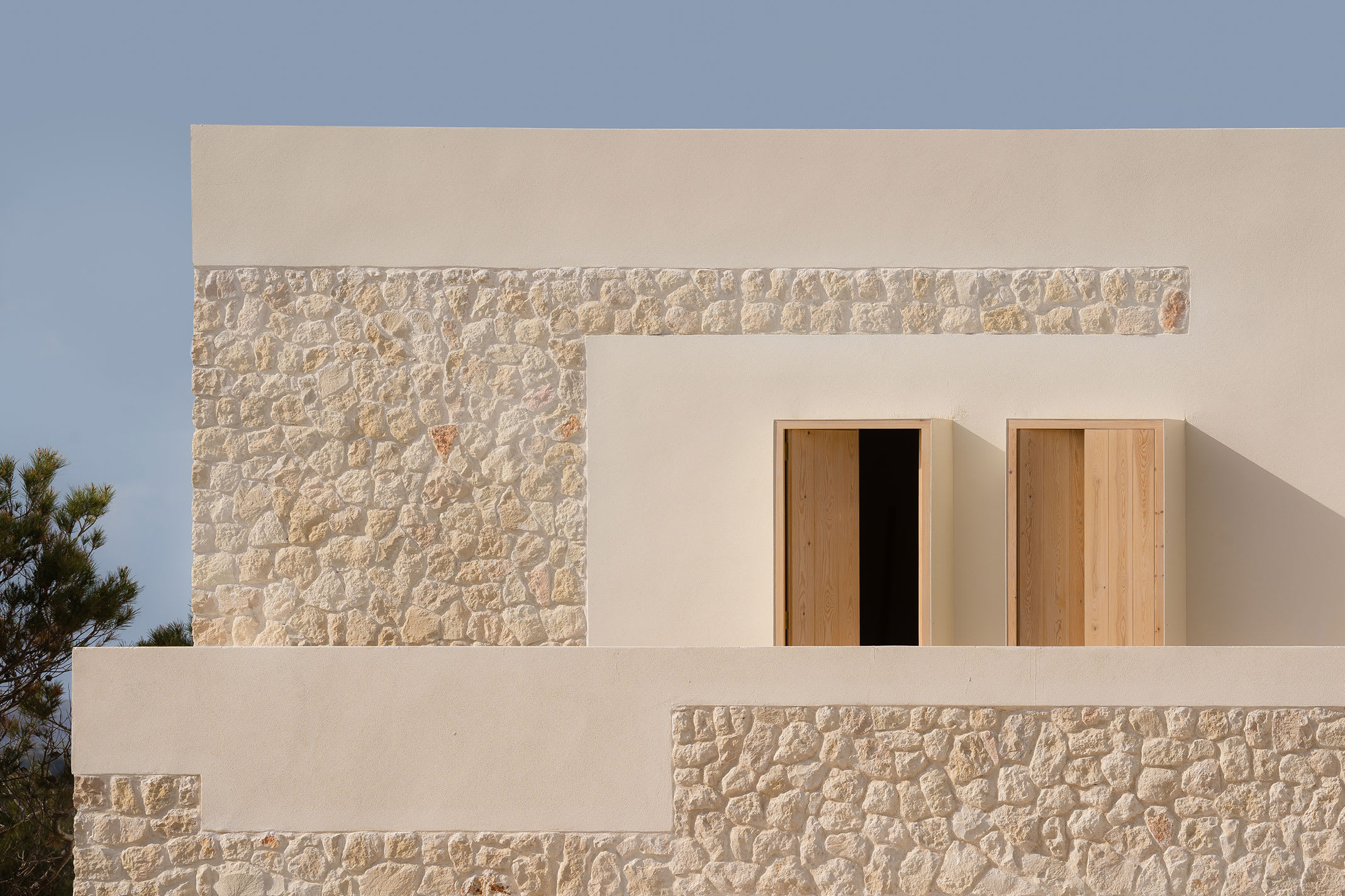 בית אבן מסורתי ב-Minorca, ספרד