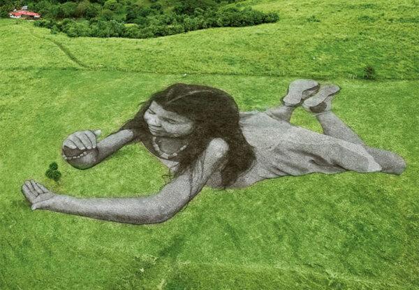 ציורי הדשא הענקיים של  Saype