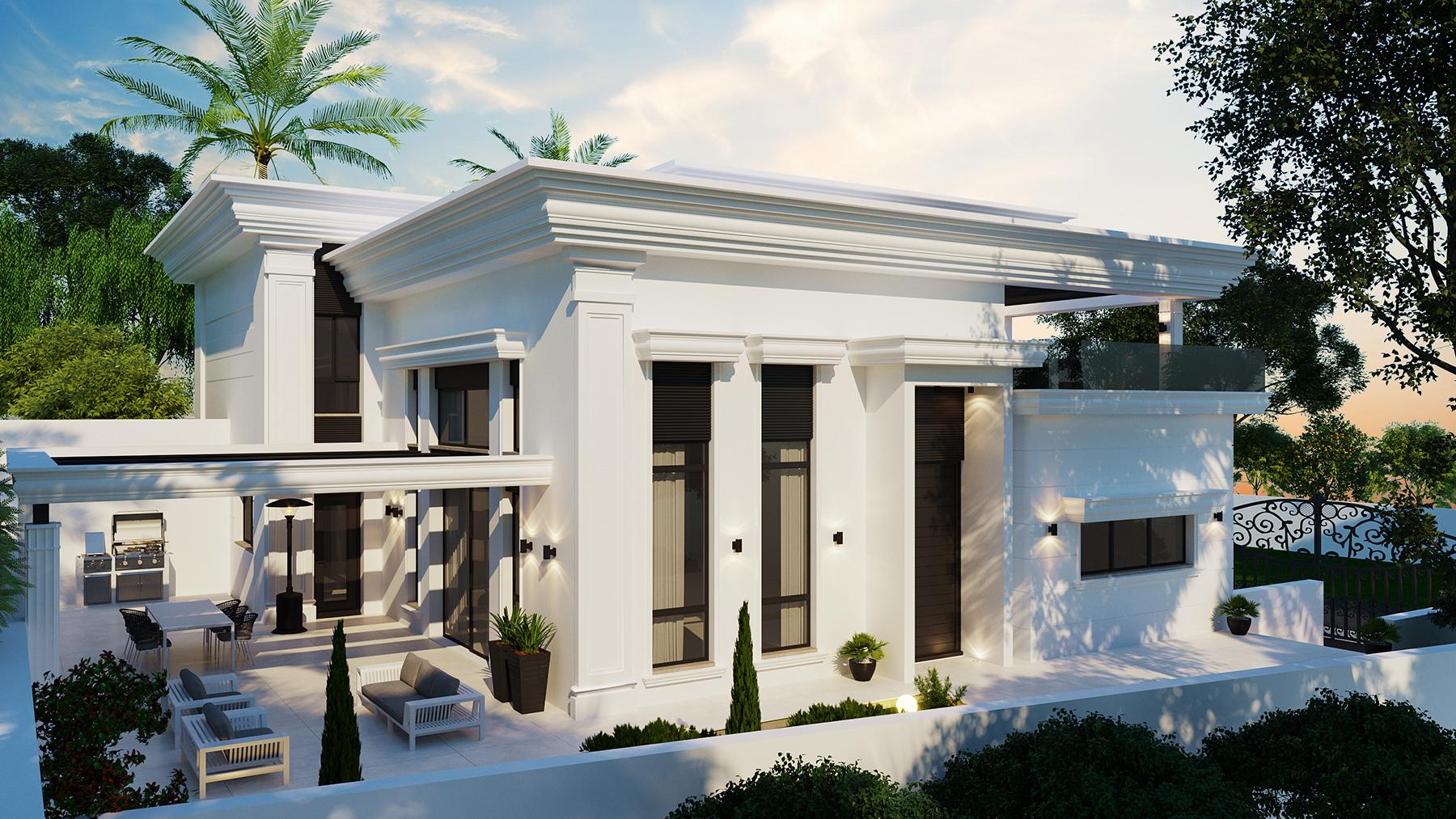 בית בעיצוב מודרני וקלאסי