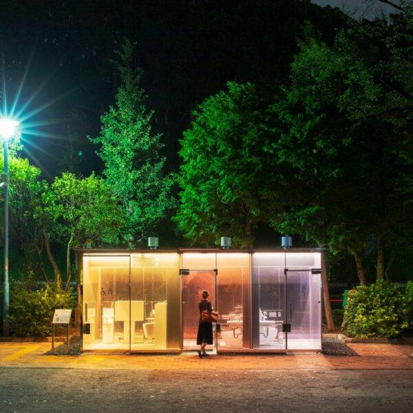שיגרו באן עיצב שירותים ציבוריים שקופים בטוקיו
