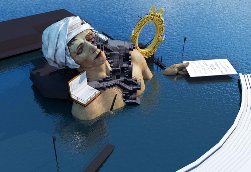 תפאורה צפה של אופרה על אגם