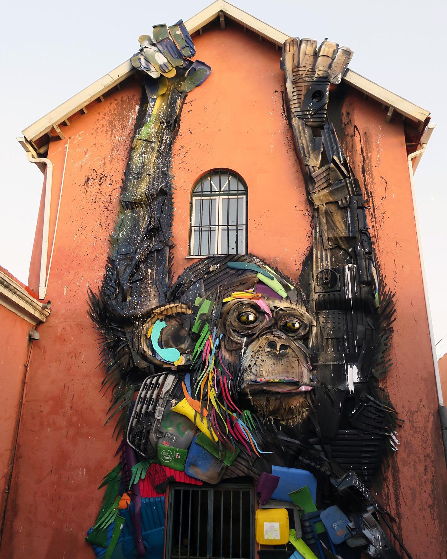 החיות שמייצר מזבל, אמן הרחוב Bordalo II