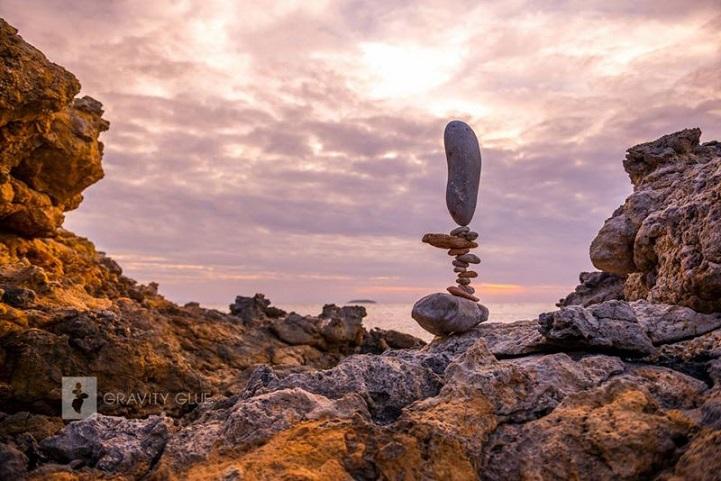 אמנות איזון אבני סלע של Michael Grab
