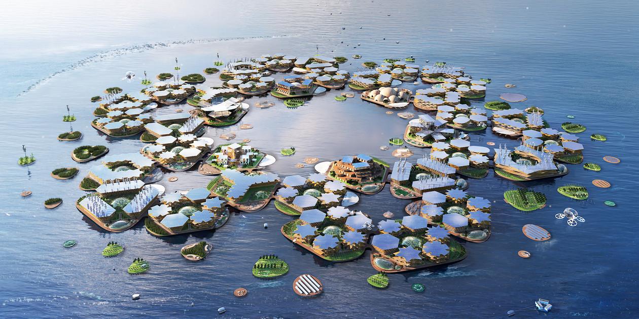 העיר הצפה הראשונה בעולם ומקיימת את עצמה:Oceanix City