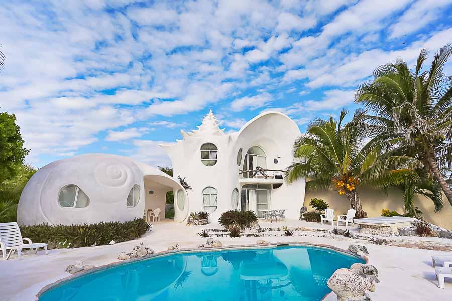 נופש בתוך צדף במקסיקו: The seashell house