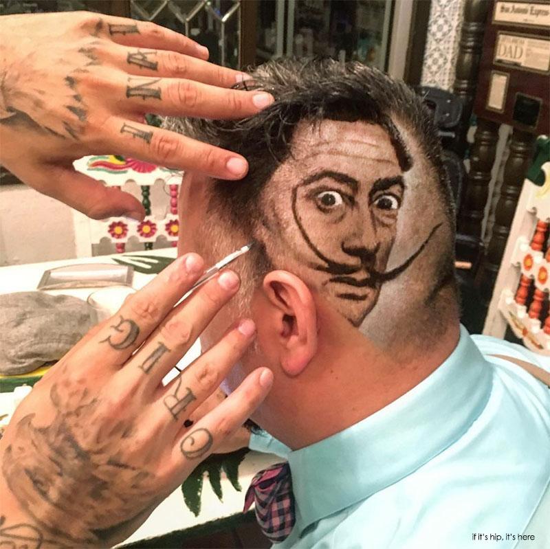 מעצב השיער שיוצר אמנות