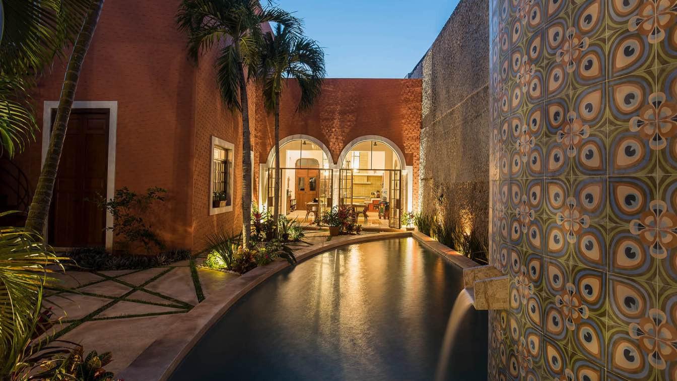 בית המשלב ישן עם חדש, במרידה, מקסיקו